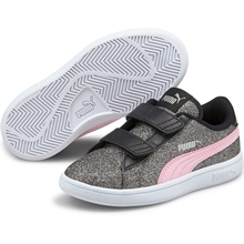 Puma Smash V2 Glitz GlamV Black Pink Lady Sneakers