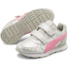 Puma Vista Glitz V Gray/Sacket Pink/Silver Sneakers