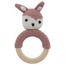 Sebra Knitted Rattle Bunny Siggy Blossom Pink
