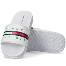 Tommy Hilfiger Flaggtryck Pool Slide White