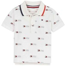 Tommy Hilfiger Baby Flag Printed Polo T-shirt White
