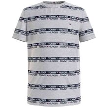 Tommy Hilfiger Printed Tape T-shirt Light Grey Heather